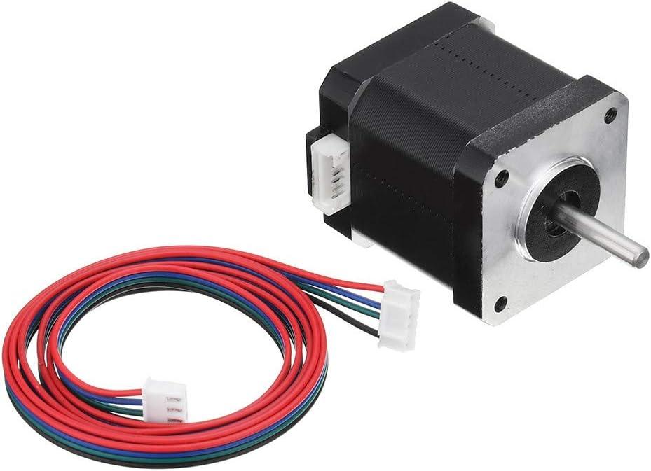 KingLan Doble Eje Nema 17 Motor Paso A Paso 1.7A 0.55Nm Bipolar 4 Cables para DIY 3D Pinter CNC