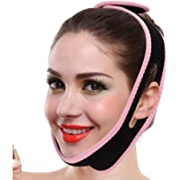 Draagbare Elastische Ademende Face Lift Slaap Band, Antislip Dubbele Kin Compressie Band V Face Shaper Druk Massage…