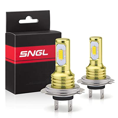 SNGL H7 LED Fog Light Bulb yellow 3000k Extremely Bright High Power H7LL H7 LED Bulbs for DRL or Fog Light Lamp Replacement: Automotive
