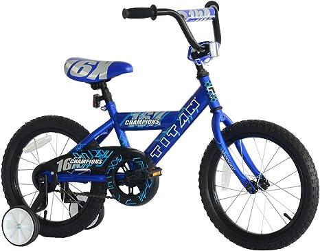 TITAN Champion Deluxe Bicicleta BMX para niños con Ruedas de 16 ...