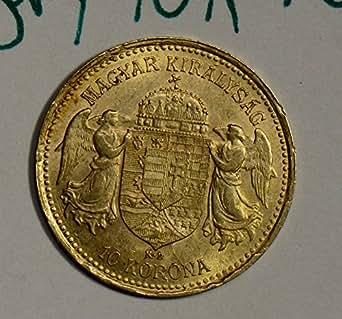1904 HU GL0039 Hungary 10 Kroner UNC .0974oz of pure gold DE PO-01