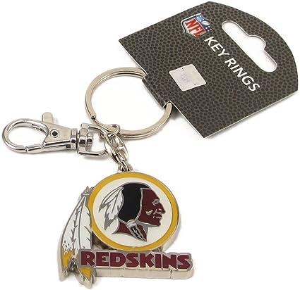 NFL Heavyweight Key Tag with Clip aminco Washington Redskins