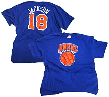 huge sale b471a 402d8 Amazon.com : Majestic Phil Jackson New York Knicks Blue ...