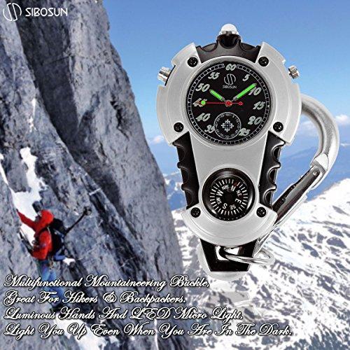 SIBOSUN Watch Company Mini Clip Microlight Nite Glow Luminous Clip on Pocket Watch Black by SIBOSUN (Image #1)