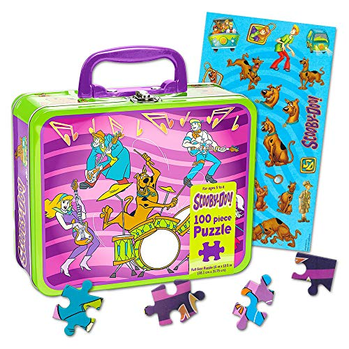 Scooby Doo Lunch Box Set - Tin Lunch Box, Stickers and Puzzle