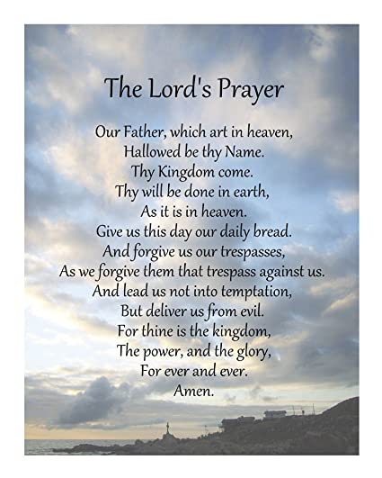33a898ce7ae6d Image Unavailable. Image not available for. Color: The Lord's Prayer ...