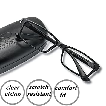 ce3c7fc93f Reading Glasses +0.25 Black - Rectangle Full Rim Anti Reflective Men Women Eyeglasses  Readers Comfortable