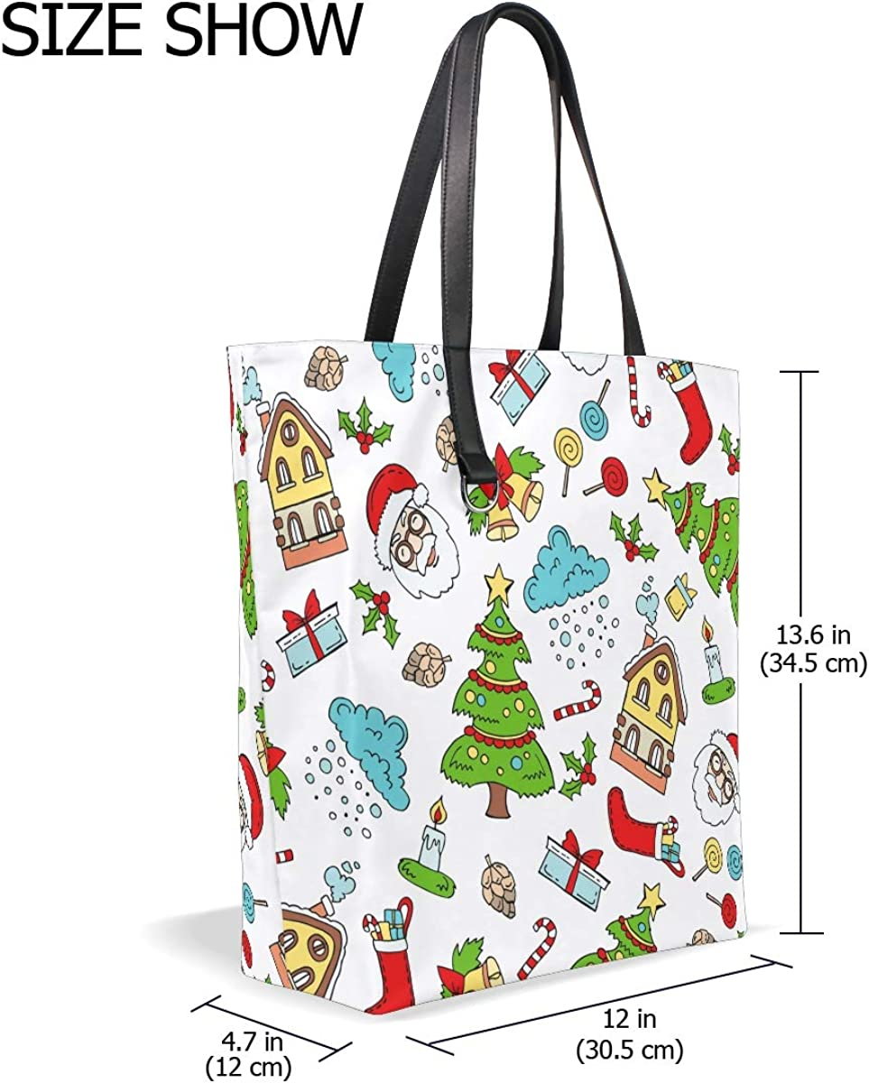 Christmas Snowmen MNSRUU Womens Tote Shoulder Bag Double-Side Use Handbag for Shopping Gym Hiking Picnic Travel Beach