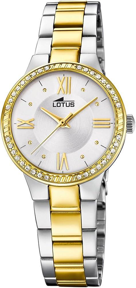 Lotus Reloj para de Cuarzo analógico con Correa en Acero Inoxidable 18392/1