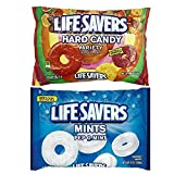 fruit life savers - Deluxe Life Saver Mints Bundle Featuring a Bag of Life Savers Fruit Variety Hard Candy Plus a Bag of Pep O Mint Lifesavers Hard Candy.