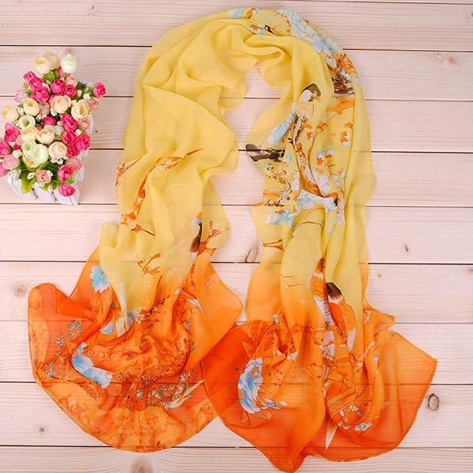 Xmiral Sciarpa Donna,sciarpe Calda e Antivento,Sciarpa Lunga Sciarpa da Donna,Sciarpa di Seta Artificiale Selvaggia