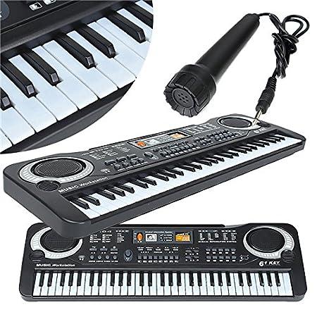 61 teclas del teclado de música electrónica Botón de Piano de mesa ...