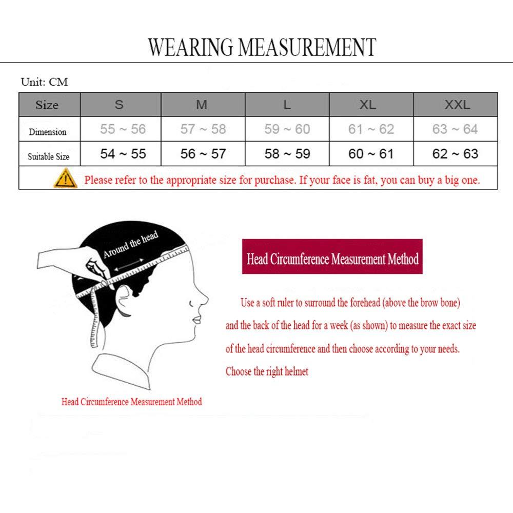 Adult DOT zugelassener Motorrad-Helm ATV Roller Helm mit Brille Offroad-Handschuhe und Maske (S, M, L, XL, XXL),XL6061cm