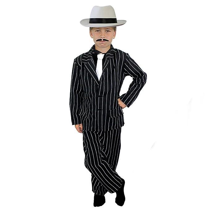 ILOVEFANCYDRESS Disfraz infantil de gánster años 20, con traje de ...