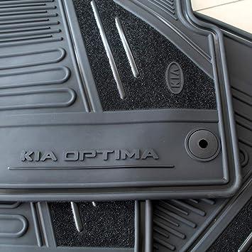 Nylon Carpet Black Coverking Custom Fit Front and Rear Floor Mats for Select Kia Optima Models CFMBX1KI9203