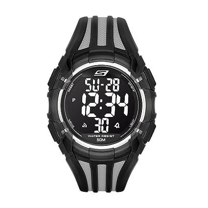 Reloj negro de cuarzo con pantalla digital SR1006 para hombre
