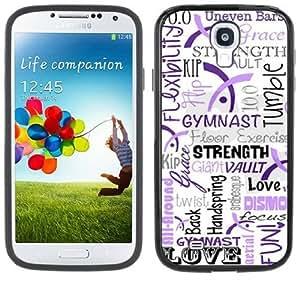 2015 CustomizedGymnastics Gymnast Handmade Samsung Galaxy S4 Black Bumper Hard Plastic Case