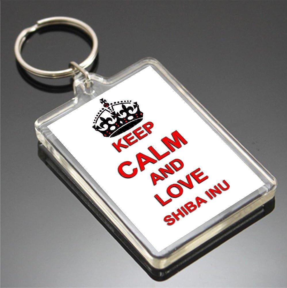 KEEP CALM AND LOVE SHIBA INU KEYRING LLAVERO: Amazon.es ...