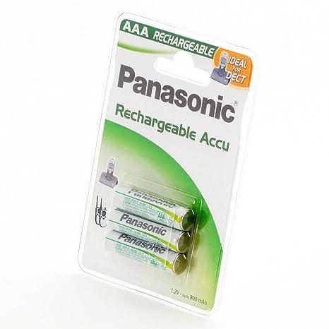 Panasonic HHR-4MVE/3BD, Pila recargable (Níquel metal hidruro, 750 ...