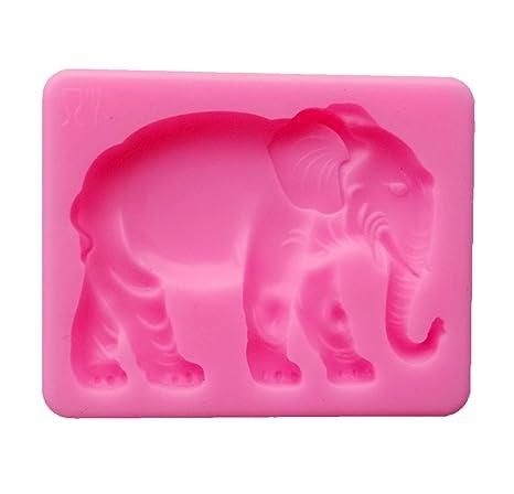 Yunko nuevo elefante silicona Fondant Cake Decorating Candy molde DIY molde