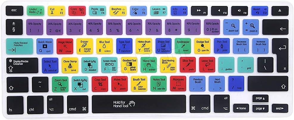 MMDW Photoshop - Funda de silicona para MacBook Pro de 13 pulgadas, 15 pulgadas, 17 pulgadas (con o sin pantalla Retina)