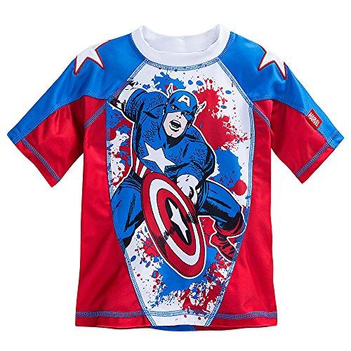 Marvel Captain America Rash Guard for Boys Size 4