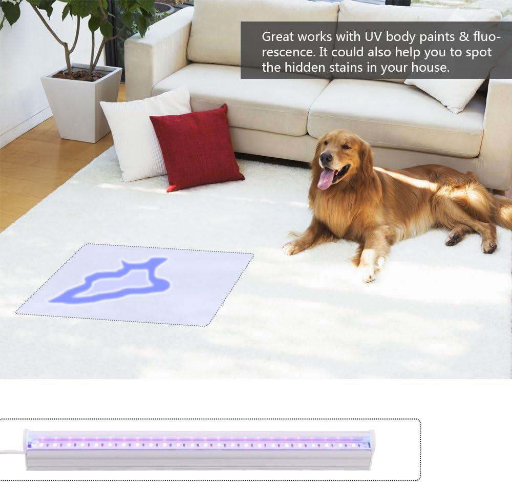AOZBZ LED Black Light Bar 6W 24-LED USB Tube Black Light Fixture for Blacklight Poster Party Art Bedroom Decoration