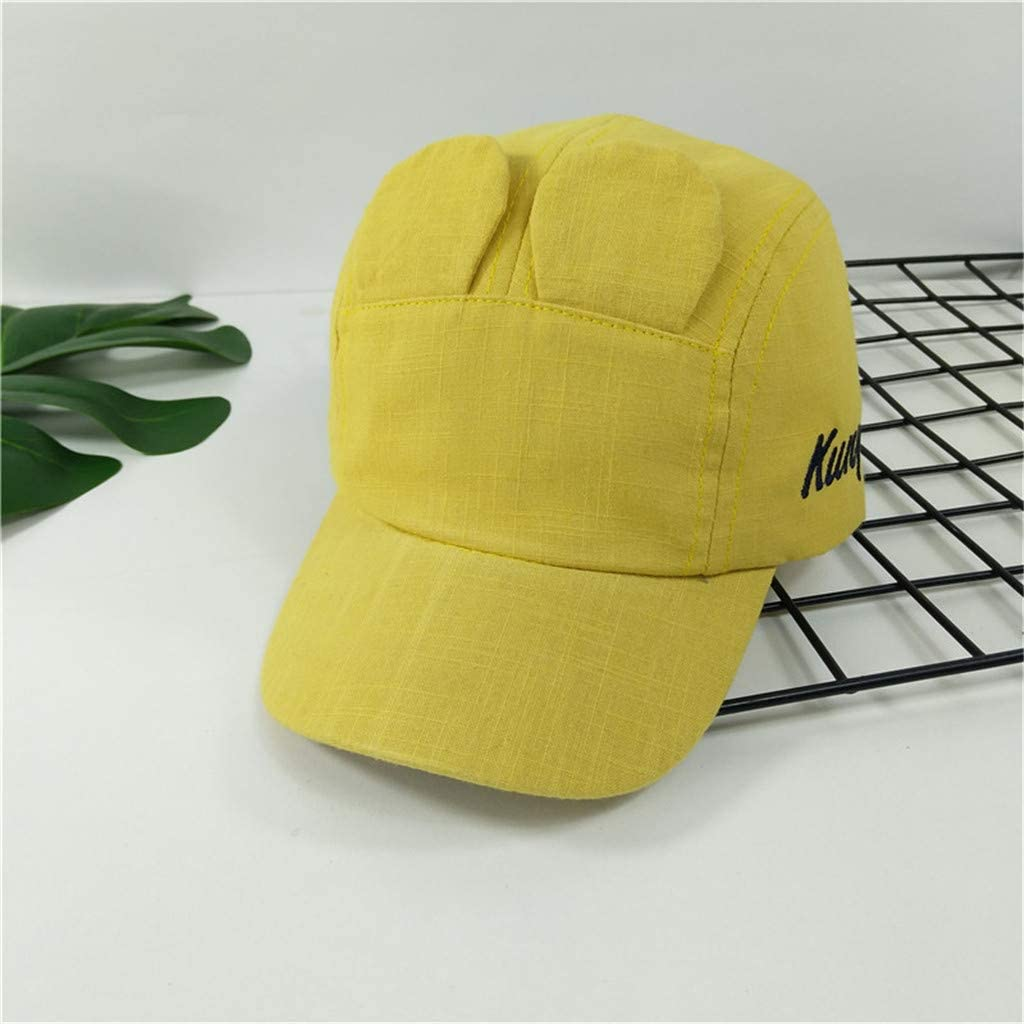 acction Summer Thin Sunscreen Hat Children Cotton Duck Tongue Baseball Cap Cute Large Ears Beach Cap Outdoor Sports Hat