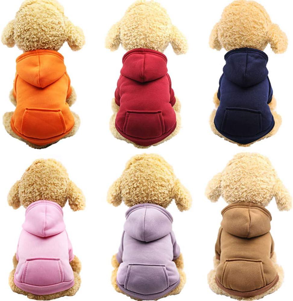 tuta per cani e gatti vestiti per cani e cuccioli abbigliamento per animali domestici giacche in cotone felpa con cappuccio per cani cappotto UWOOD