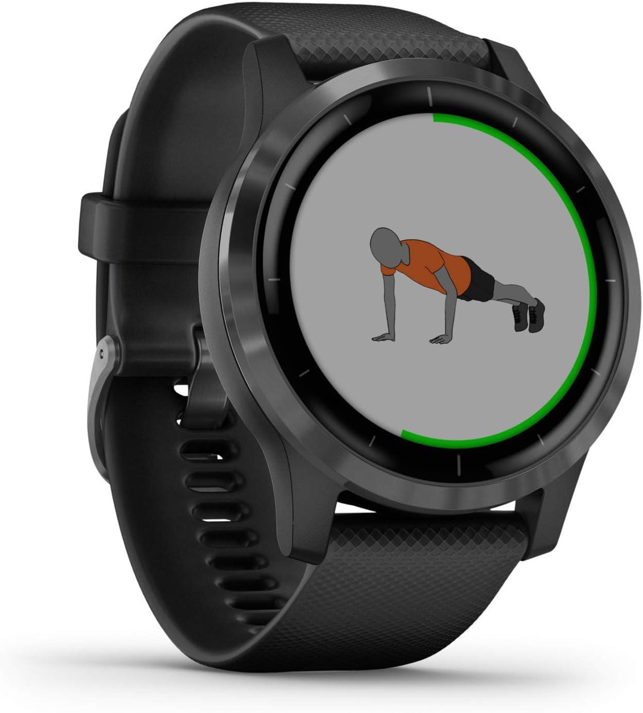 Garmin Vivoactive 4 - Reloj inteligente con GPS y funciones de control de la salud durante todo el día, color negro