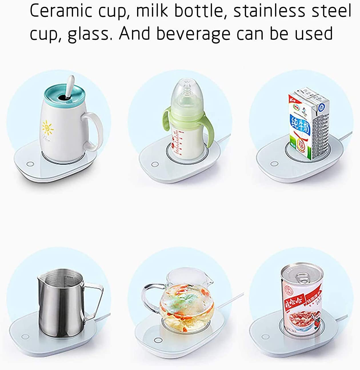 Coffee Cup Warmer with Auto Shut Off Safely Use for Office//Home to Warm Coffee Tea Milk Candle Beverage Warmers Cup Heater for Desk Coffee Mug Warmer