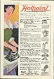 Hotpoint Electric Iron Percolator Immersion Heater Vacuum Cleaner ad 1918