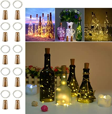 20LEDs Bottle Stopper Fairy String Lights Battery Cork Shaped Party Xmas Wedding