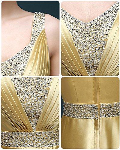 Drasawee Linie Damen A Gold Kleid wOxgPOYB