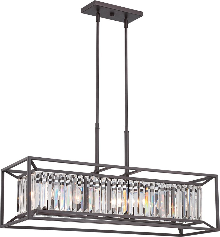 Designers Fountain 87438-VB Linares 4 Light Linear Chandelier ...