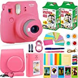Fujifilm Instax Mini 9 Instant Camera HUGE BUNDLE – Flamingo Pink (Small Image)