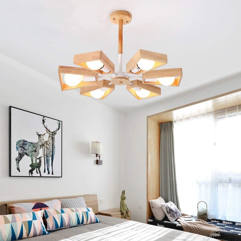 Lampe   Kronleuchter Europäische Holz Kronleuchter, moderne einfache LED Deckenlampe, Wohnzimmer ...
