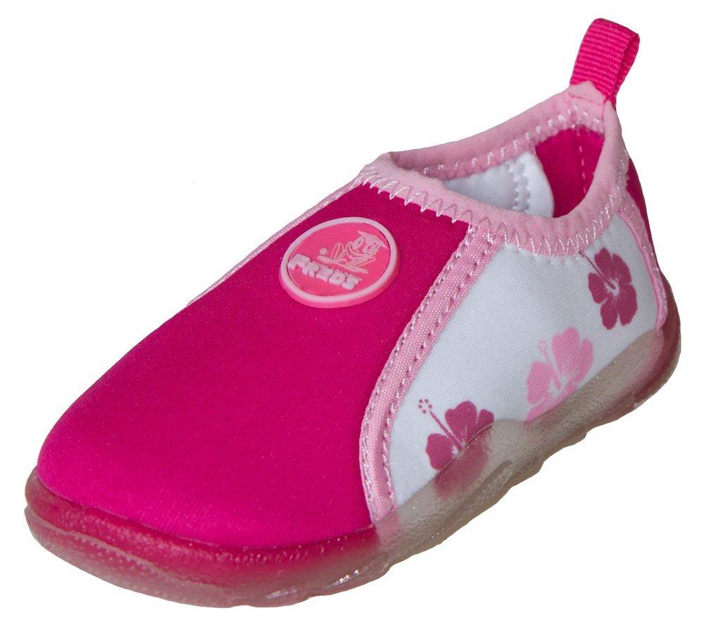 FREDS SWIM ACADEMY Kinder Aqua Schuhe Badeschuhe Wasserschuhe Strandschuhe 27 pink