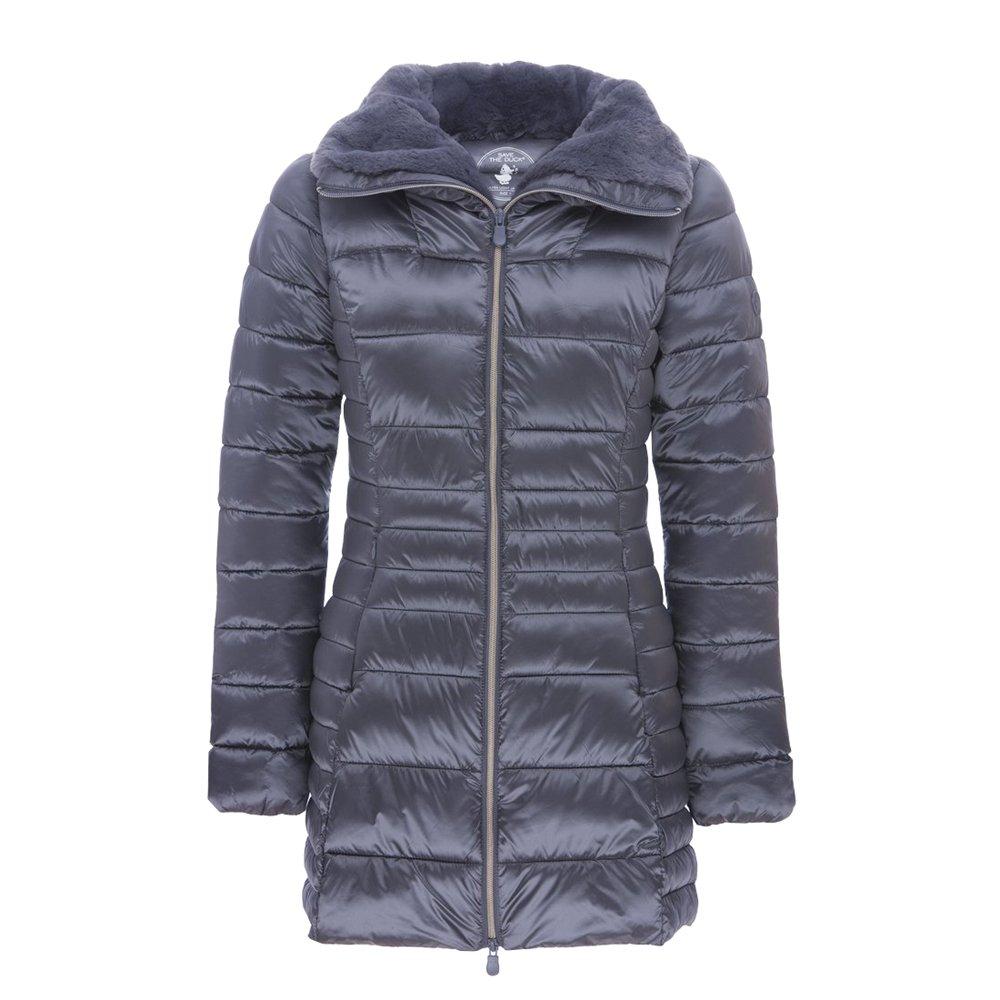 Save The Duck Women's Iridescent Coat (Steel Grey,XS)