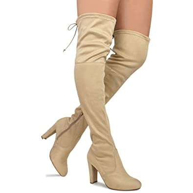 33fd4f83ad22 Wild Diva Women s Over The Knee Boot - Sexy Over The Knee High Pullon Boot -