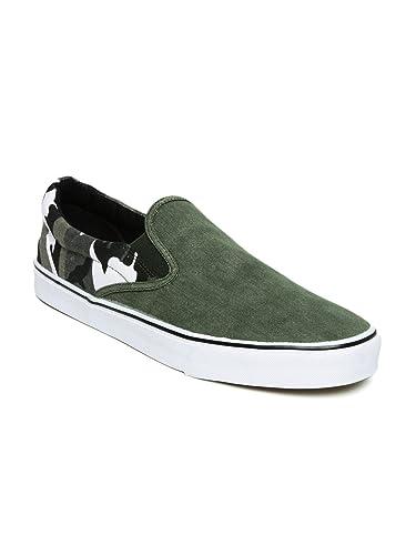 e880bedc1526 Kook N Keech Men Navy Olive Green Camouflage Print Casual Shoes (9UK ...