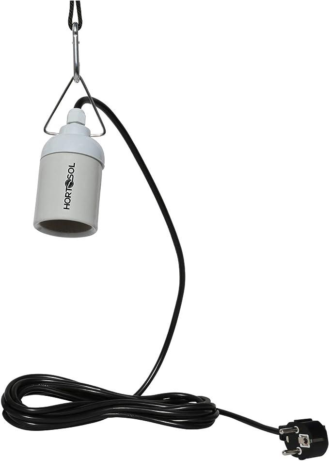 HORTOSOL Casquillo E40 de suspensión con cable de Conexión: Amazon.es: Hogar