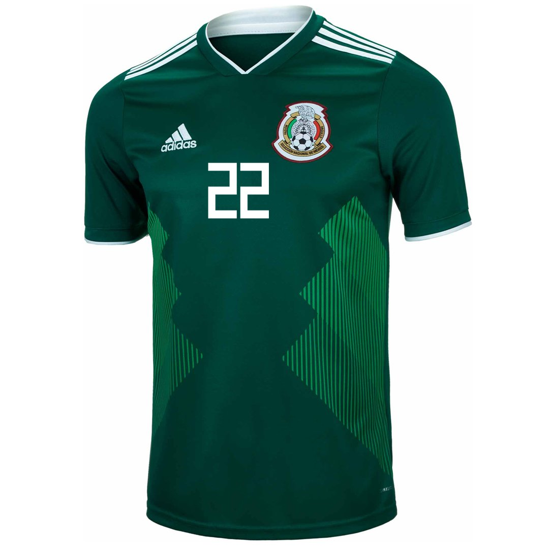 1d31401f5 Amazon.com   adidas H. Lozano  22 Youth Mexico Home Replica Soccer Jersey  World Cup 2018 (YM)   Sports   Outdoors