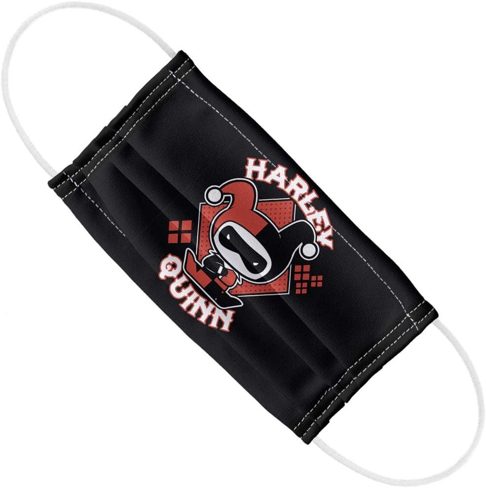Harley Quinn Mascarilla reutilizable protector para pesca ciclismo pasamonta/ñas faciales protecci/ón contra el polvo del sol m/áscara de tela lavable bandana para la cara