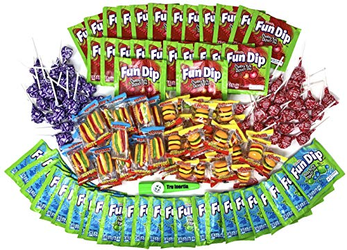 Bulk Candy Party Favor Pack for Kids Parties - 144 Pieces of Candy Fun Dip, Dum-Dums, Efrutti- Includes 1 Tru Inertia Kazoo