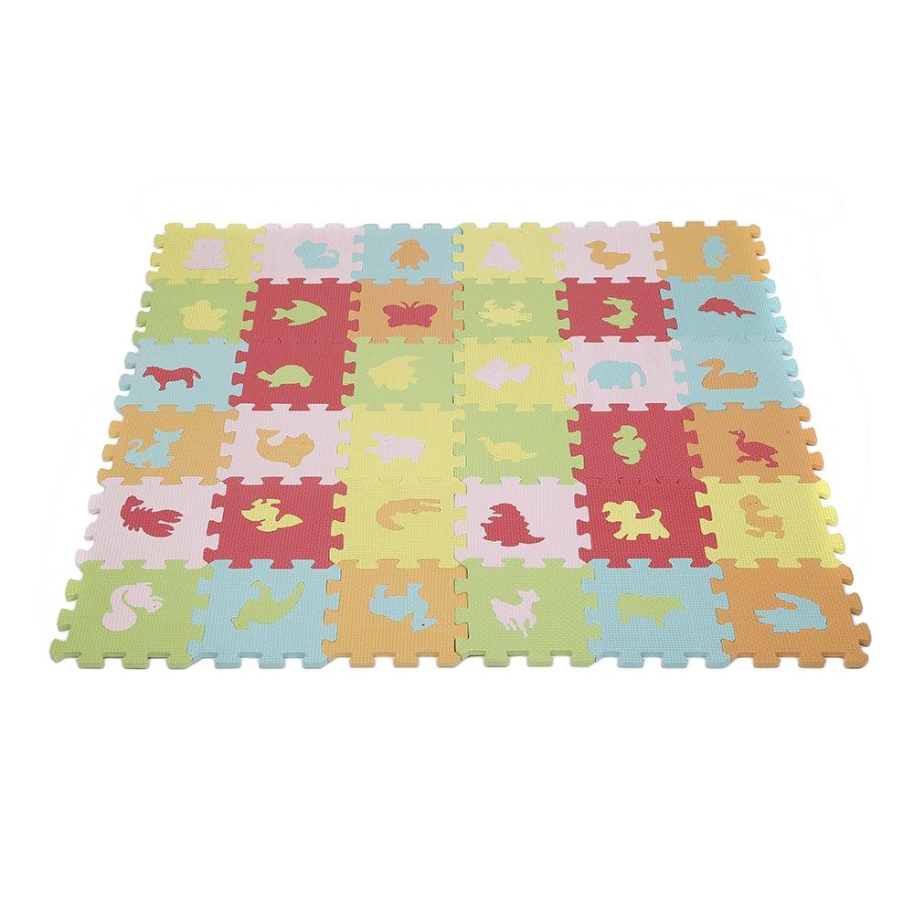 36Pcs EVA Foam Pad Animal Puzzle Baby Crawl Play Kids Mat WeFun CN-92