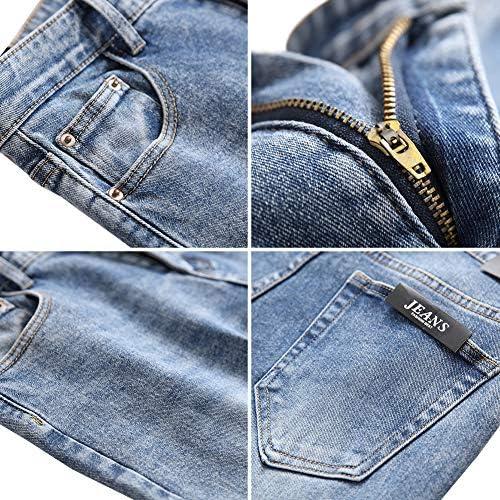 61r mWSi6ZL. AC LONGBIDA Men's Slim Fit Jeans Stretch Tapered Leg Jean    Product Description