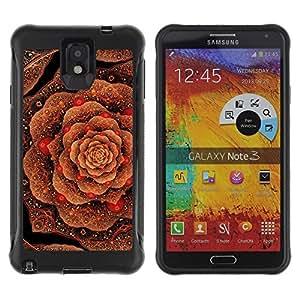 Suave TPU GEL Carcasa Funda Silicona Blando Estuche Caso de protección (para) Samsung Note 3 / CECELL Phone case / / cabbage floral pattern copper bling gold /