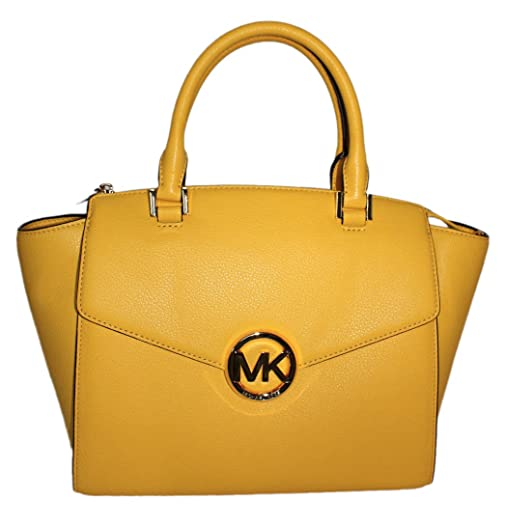 abd2fe33ba37 ... get buy yellow mk purse off69 discounted michael kors hudson large  citrus yellow leather satchel a1f91