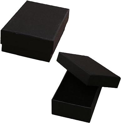 Widdop Bingham 12 cajas de joyería negras cuadradas para pulsera, cajas de regalo, 8 x 5 cm: Amazon.es: Joyería